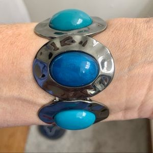 Faux Turquoise Chunky Bracelet